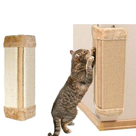 EMVANV Gato rascador tabla de poste colgante esquina pared montado Sisal Board Mat papel pintado muebles