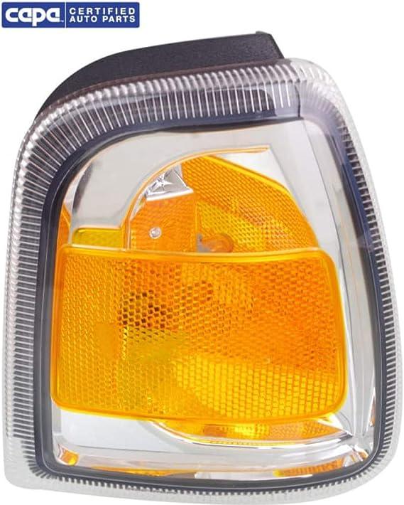 6L5Z15A201BA For Ford Ranger Corner Light 2006 07 08 09 10 2011 Driver Side Clear /& Amber Lens FO2530171 CAPA Certified