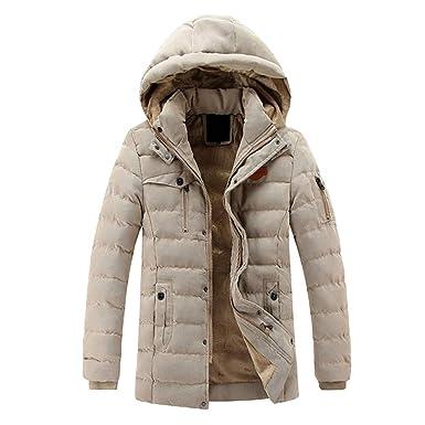 ♚ Abrigo con Cremallera de Invierno para Hombre, Otoño Invierno de Hombre Color Puro Outwear Abrigo Hombre Invierno Parka Absolute: Amazon.es: Ropa y ...