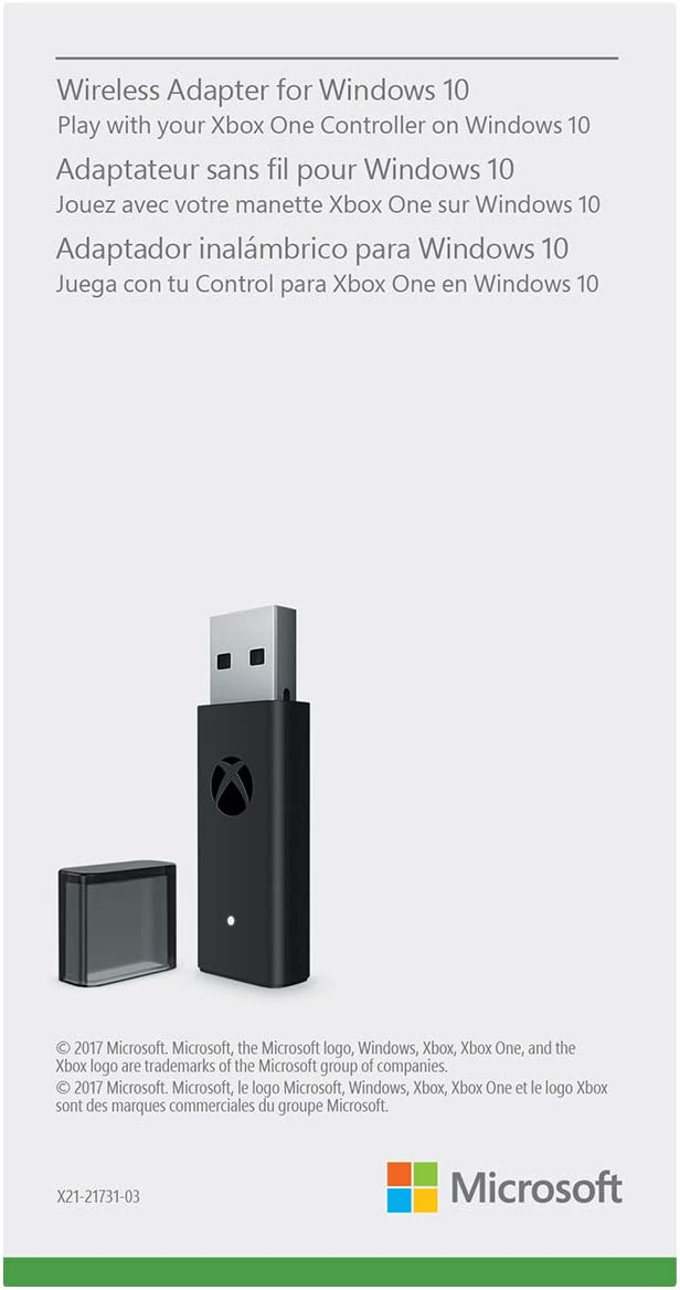 Amazon com: Microsoft Xbox Wireless Adapter for Windows 10