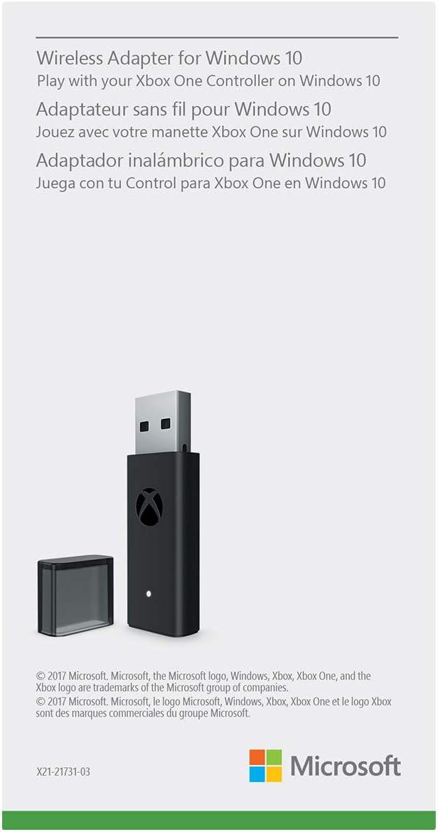 Microsoft Xbox adaptador inalámbrico para Windows 10 (Bulk embalaje): Amazon.es: Electrónica