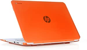 "iPearl mCover Hard Shell Case for 14"" HP Chromebook 14 G2 Series (14-Q010NR 14-Q020NR 14-Q029WM 14-Q030NR 14-Q070NR, etc) laptops (Orange)"