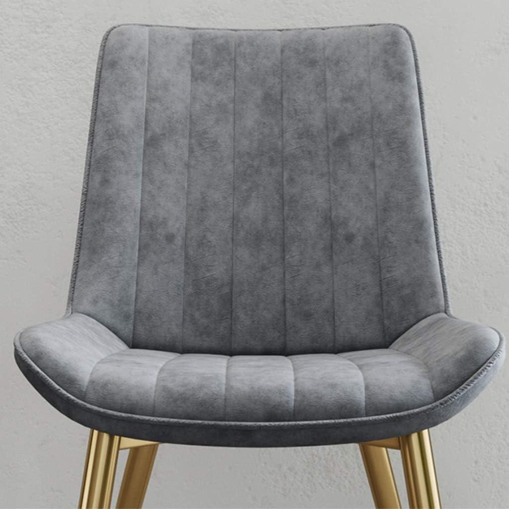6 Pièce Chaise Salle à Manger Chaise de Cuisine Rétro Chaise de Salon Rembourrée en Velours,Pieds en métal,Chaise avec Dossier (Color : Brown) Beige
