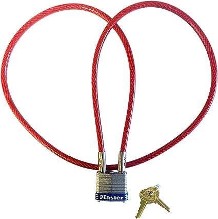 Multi Purpose 3 ft Motorcycle Helmet//Jacket Cable Lock 1 Master Lock 719KA