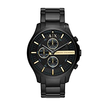 1090ee8ed2b Amazon.com  Armani Exchange Men s AX2164 Black Watch  Armani ...