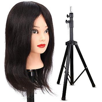 Entrenamiento cabeza peluquería 100% real cabello humano estilo ...