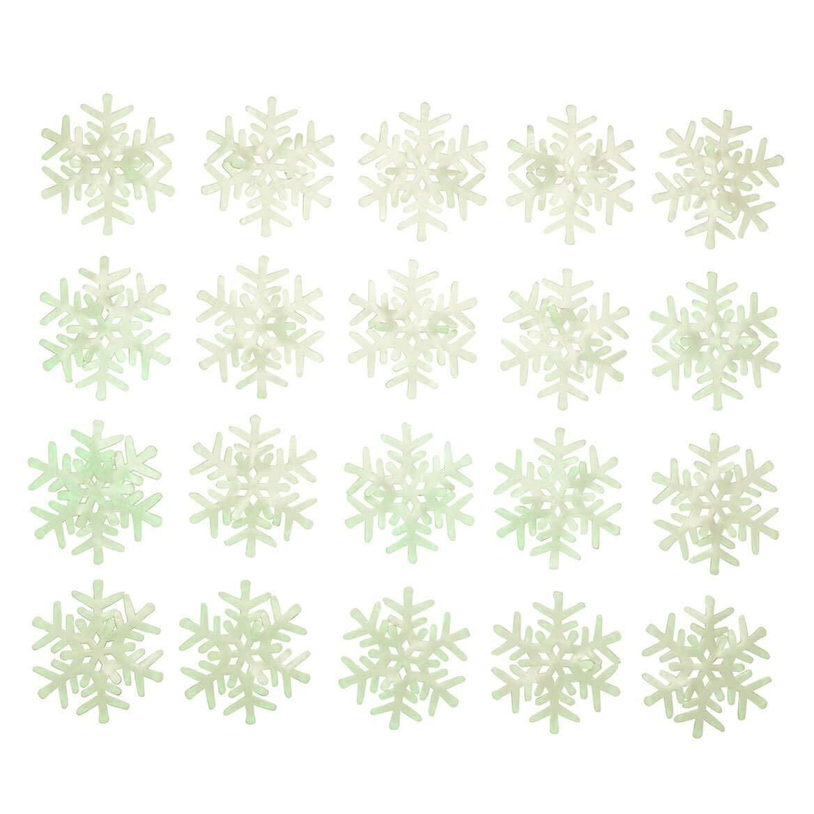 WalterDrake Glow-in-The-Dark Snowflakes, Set of 20