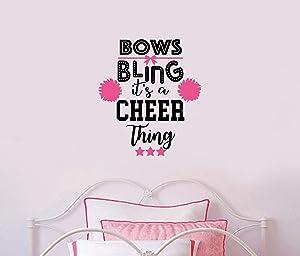 Cheerleader Wall Decal, Cheerleader Wall Decor, Girls Room Decor, Cheerleader Decor, Cheer thing wall decal