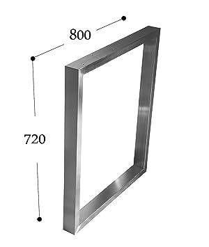 CHYRKA Estructura para tableros de Mesa Diseño pie de Mesa Acero Inoxidable 201, Comedor Mesa Estructura Pata (720x800 mm - 1 Pieza)