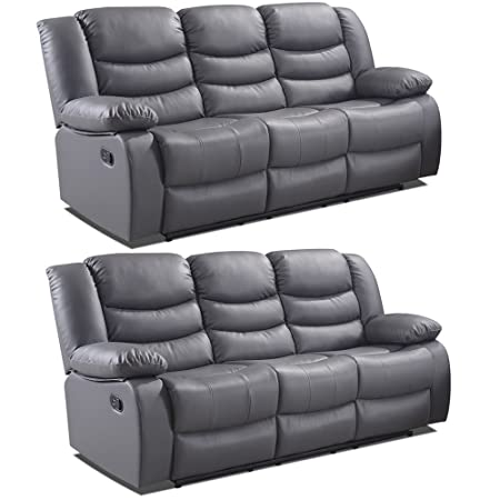 Admirable Simply Stylish Sofas Belfast Grey Leather Reclining Sofa Range All Combinations Available 3 3 Seater Download Free Architecture Designs Scobabritishbridgeorg