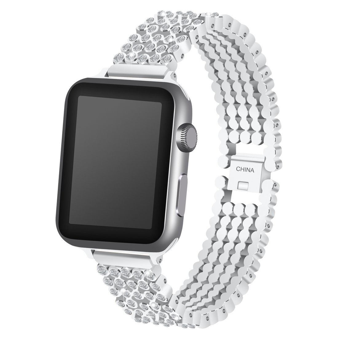 Iwatch Band,Crystal Rhinestone Watch Band Luxury Stainless Steel Bracelet Watch Bands for Smart Watch (Original Color,38mm)