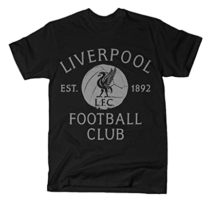 Amazon.com   Anfield Shop Liverpool FC Black   Grey Vintage T-Shirt ... 41ef30863