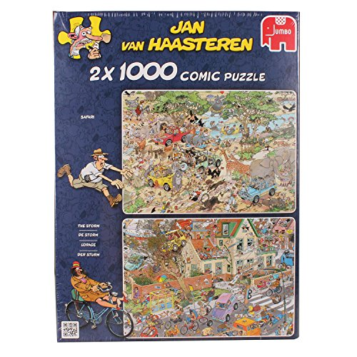 Price comparison product image Jumbo Safari & the Storm Jigsaw Puzzle (2 x 1000) (2000 Piece)