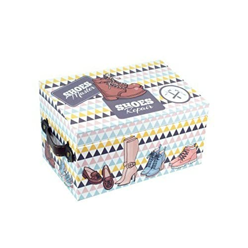 CAPRILO Caja de Zapatos Decorativas con Kit de Limpieza. Cajas Multiusos. 15.5 x 25.5 x 16 cm.: Amazon.es: Zapatos y complementos