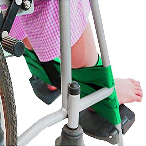 XIHAA Reposapiés Reposapiés para Silla De Ruedas con Cinturón De Seguridad para Silla De Ruedas, Pie De Transporte De Seguridad Médica Cinturón De Soporte ...