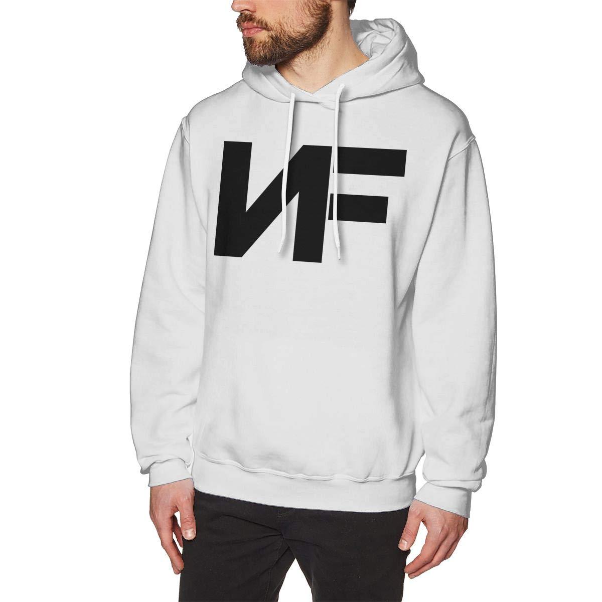 Men's NF Rapper Logo-Logo Hoodie Custom Pullover Sweatshirt Long Sleeve Hoodies Hooded for Youth Boys Men White 2XL by Cxcai