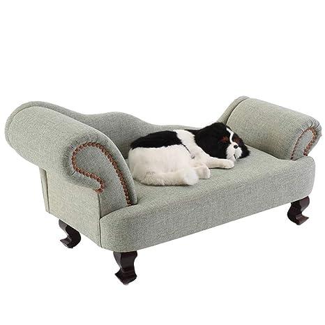 Cama perro Sofá para Perros, Sofá cómodo ortopédico para Mascotas con Funda extraíble para Perros