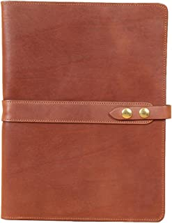 product image for Brown Full-Grain Leather Portfolio No.18, Padfolio Folder | Made in USA | Col. Littleton