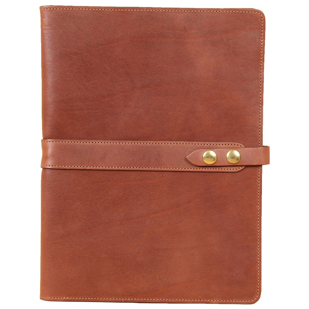 Leather Business Portfolio Notebook Folio Writing Pad Brown No. 18 USA Made Col. Littleton