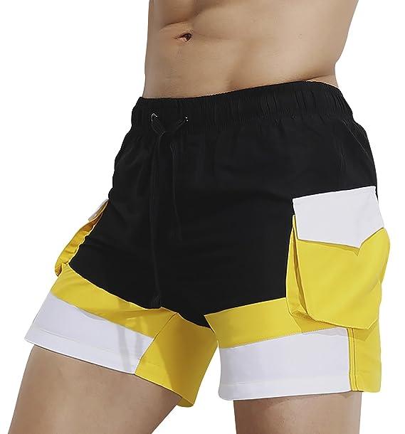 Dolamen Bañador de Natación Boxer para Hombre, 2018 Hombre Bañador Traje de Baño Pantalones Cortos Playa Piscina, con cordón Ajustable Dentro & ...
