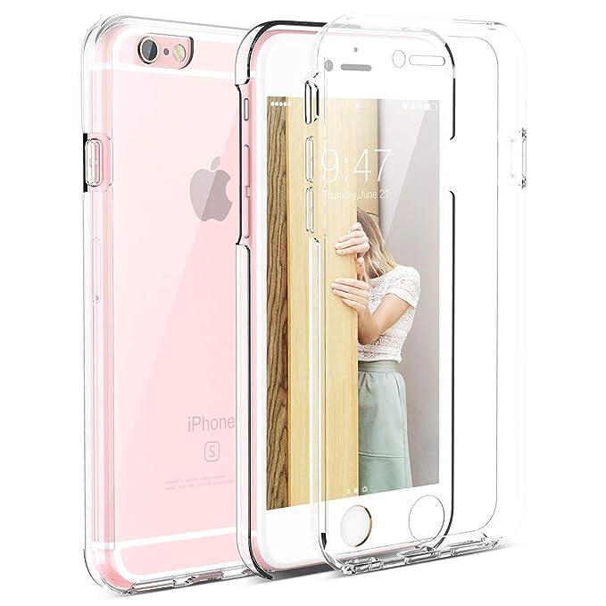 CE-Link Kompatibel mit iPhone 6 Hülle iPhone 6s Hülle 360 Grad Crystal Clear Transparent Hüllen mit Integriertem Displayschut