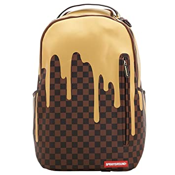 3a8500dfd85dbb Amazon.com | Sprayground Unisex-Adult Gold Checker Drips Backpack One |  Backpacks
