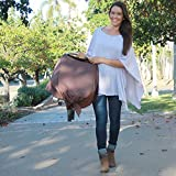 Nursing Covers by Dria 'The All-In-One Fashionable Nursing Cover, Stroller Cover, Car Seat Cover' - Made in USA from Premium Four Way Stretch and Breathable Modal Fabric (Brussels Style: Brown)