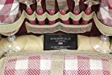 Greenfield Collection Deluxe Mulberry Red Picnic
