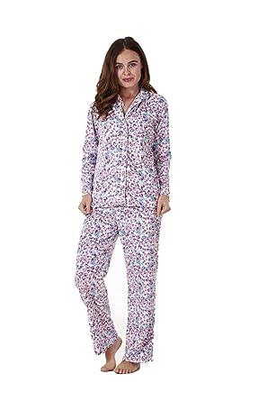 edaef6ee43 Ladies Stunning Printed Fleece Pyjama Set Womens PJ s Winter Warm Nightwear