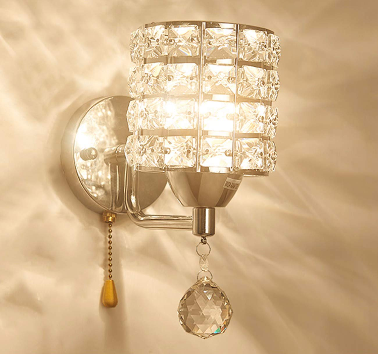B wandleuchte Goldene Crystal Wand Lampe Raum Schlafzimmer Mit Lampe - Lampe,B