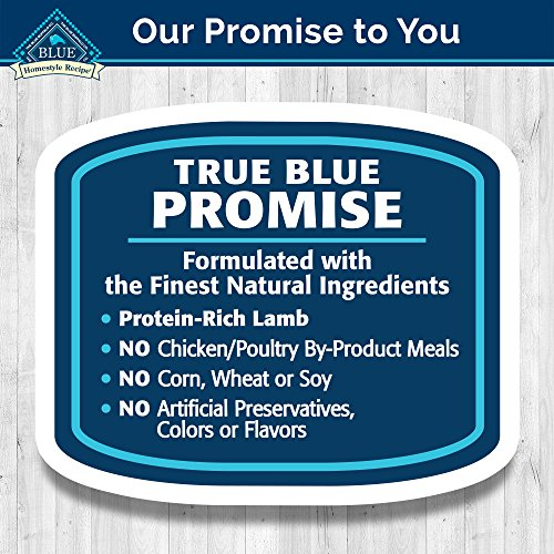 Blue Buffalo Homestyle Recipe Natural Adult Wet Dog Food,Lamb 12.5-oz can (Pack of 12)