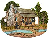 "Black Bear Family Wall Hanging Plaque Home Decor Inscribed ""Welcome to Our Den"" – Wildlife Barefoot Bear Lodge House Design Figurine Collectibles Review"