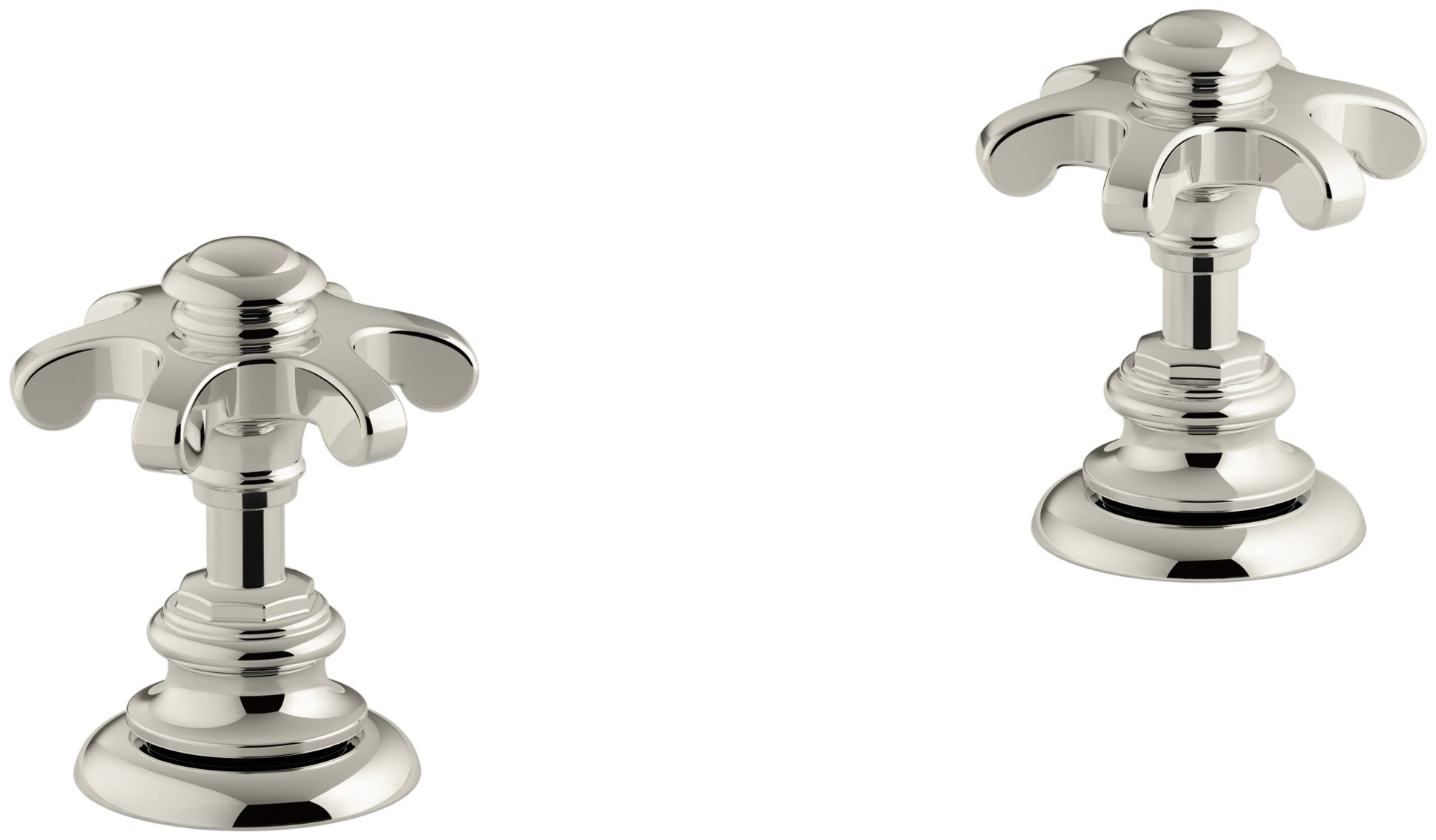 KOHLER K-98068-3M-SN Artifacts Bathroom sink prong handles, Less Spout, Vibrant Polished Nickel