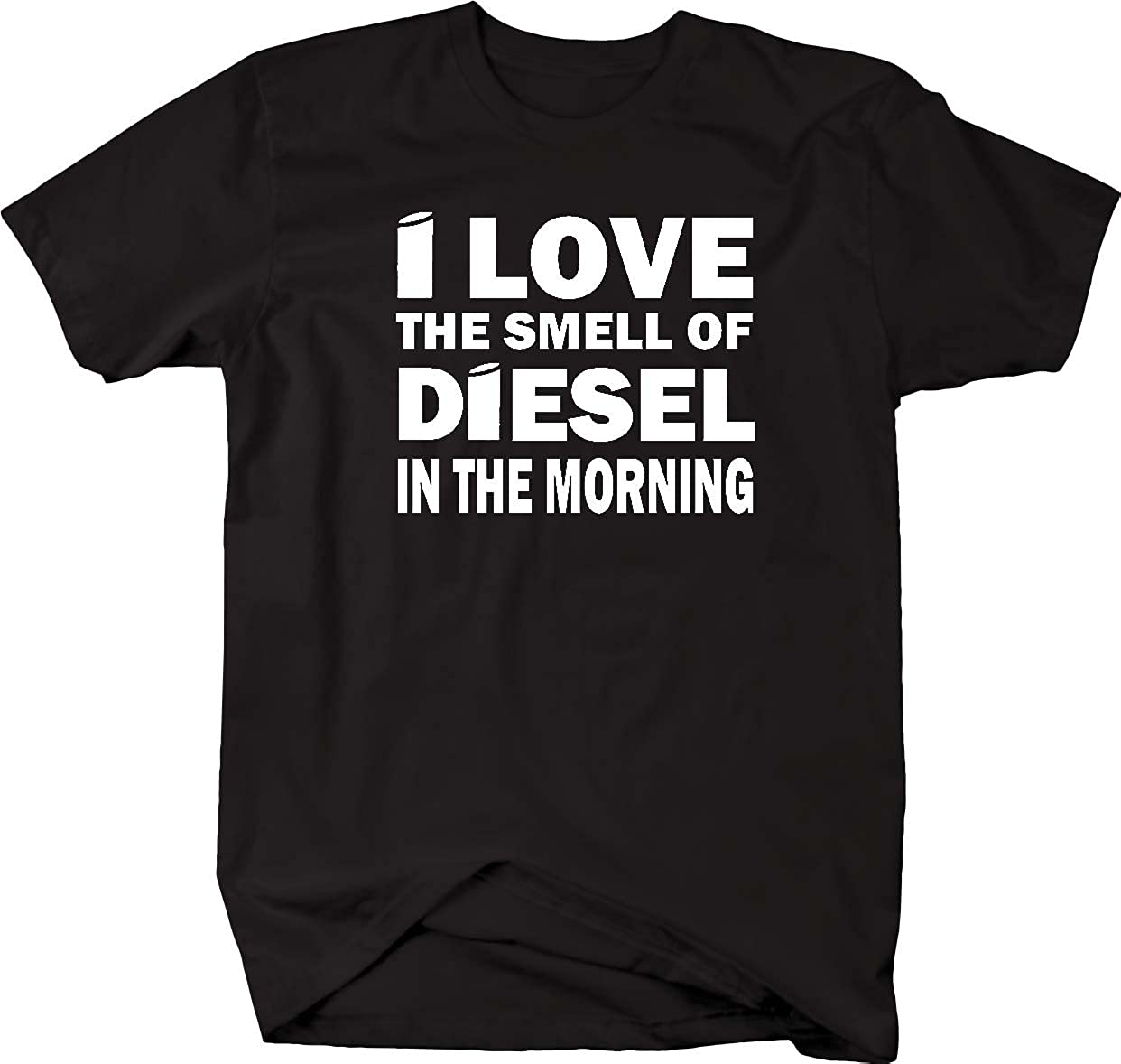 the Smell of Diesel in Morning Stacks Trucker Black Smoke Mens T Shirt