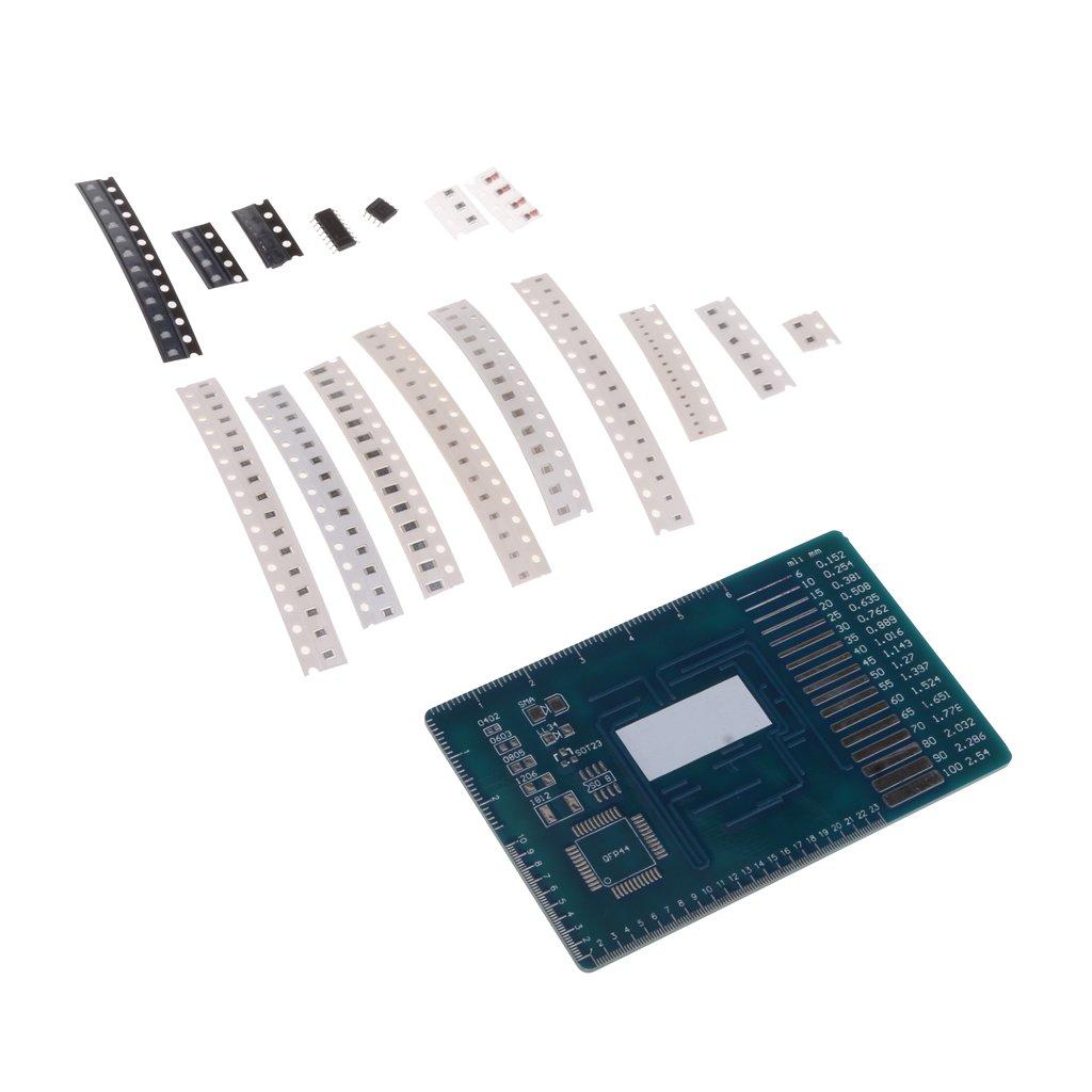 SM SunniMix M/ódulo De Kits De Entrenamiento De Habilidades De SMD Soldering LED Component Practice Board
