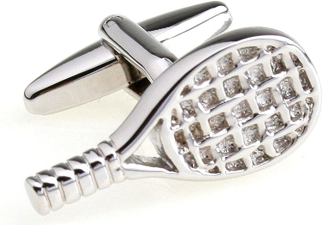 MRCUFF Tennis Racquet Pair Cufflinks in a Presentation Gift Box & Polishing Cloth