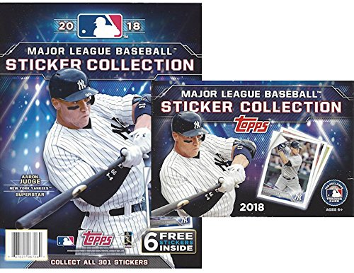 2018 Topps MLB Baseball Sticker Collection Master Kit (50 pack box & 1 album) (Topps Box Mlb)