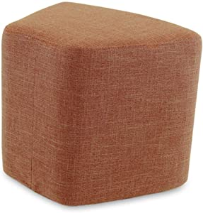 QQXX Outdoor Ottomans Footstools Household Eucalyptus Trapezoid Framework European Style Strike Prevention Coffee Table Stool, 5 Colors (Color : Brown, Size : 46x33x40cm)