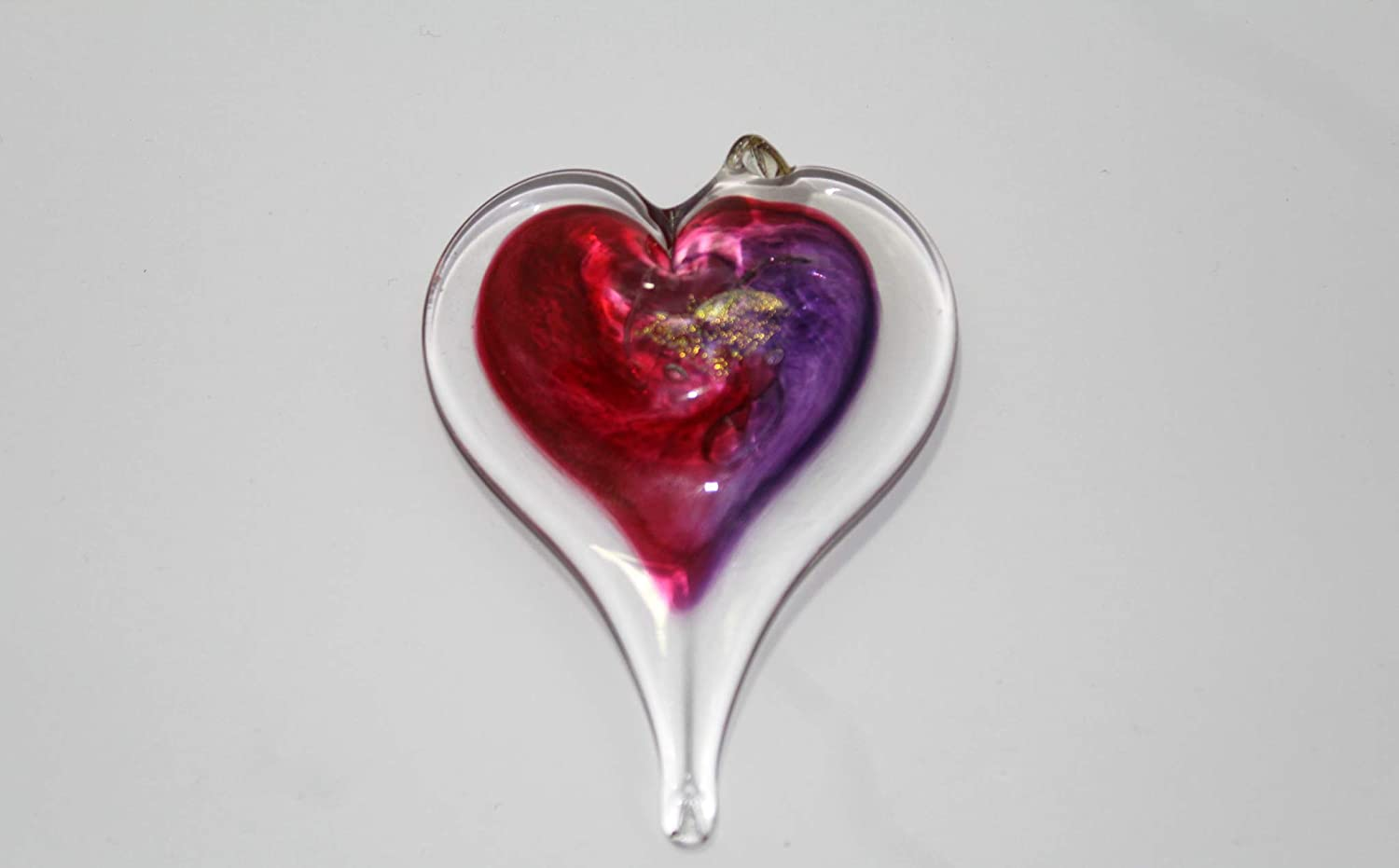 "Luke Adams Glass | 3"" Small Glass Heart 