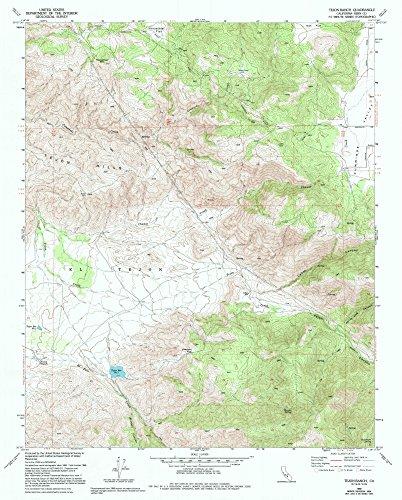 Tejon Ranch CA topo map, 1:24000 scale, 7.5 X 7.5 Minute, Historical, 1966, updated 1994, 26.7 x 21.5 IN - - Tejon Ca