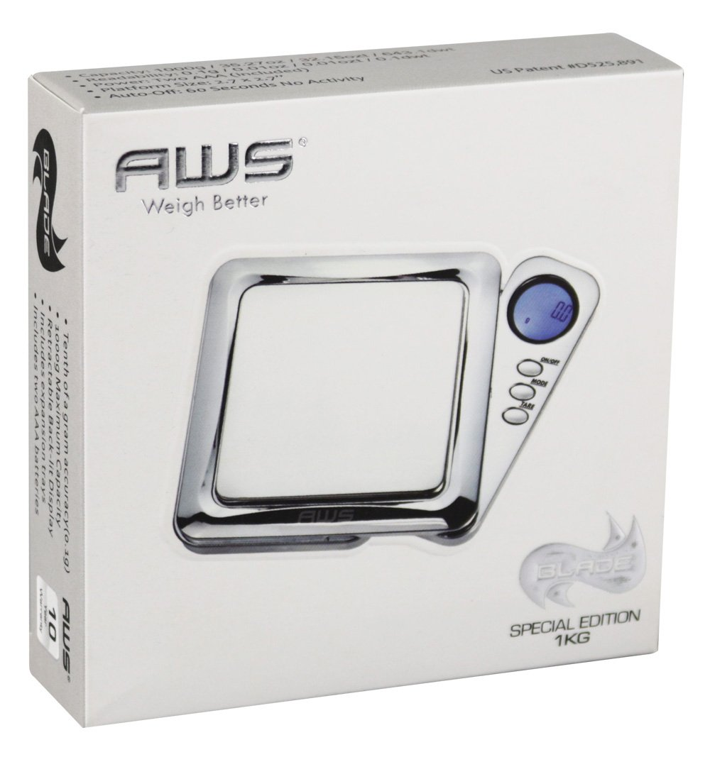 AWS Blade Scale w/ Silicone Mat - 1000g x 0.1g / Chrome by AWS (Image #2)