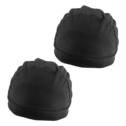 2x Black Malla Gorra Cap Spandex Net Dome Cap Para Peluca Hacer De ...