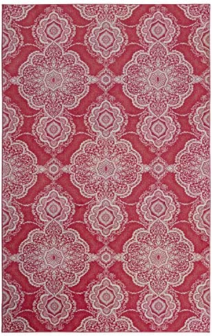 Mohawk Home Isabella Pink Area Rug, 8 x10 ,