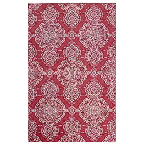 Mohawk Home Isabella Pink Area Rug, 5 x8 ,