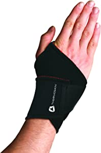 Thermoskin Thermal Universal Wrist Wrap, Black, Small/Medium, 5 Ounce