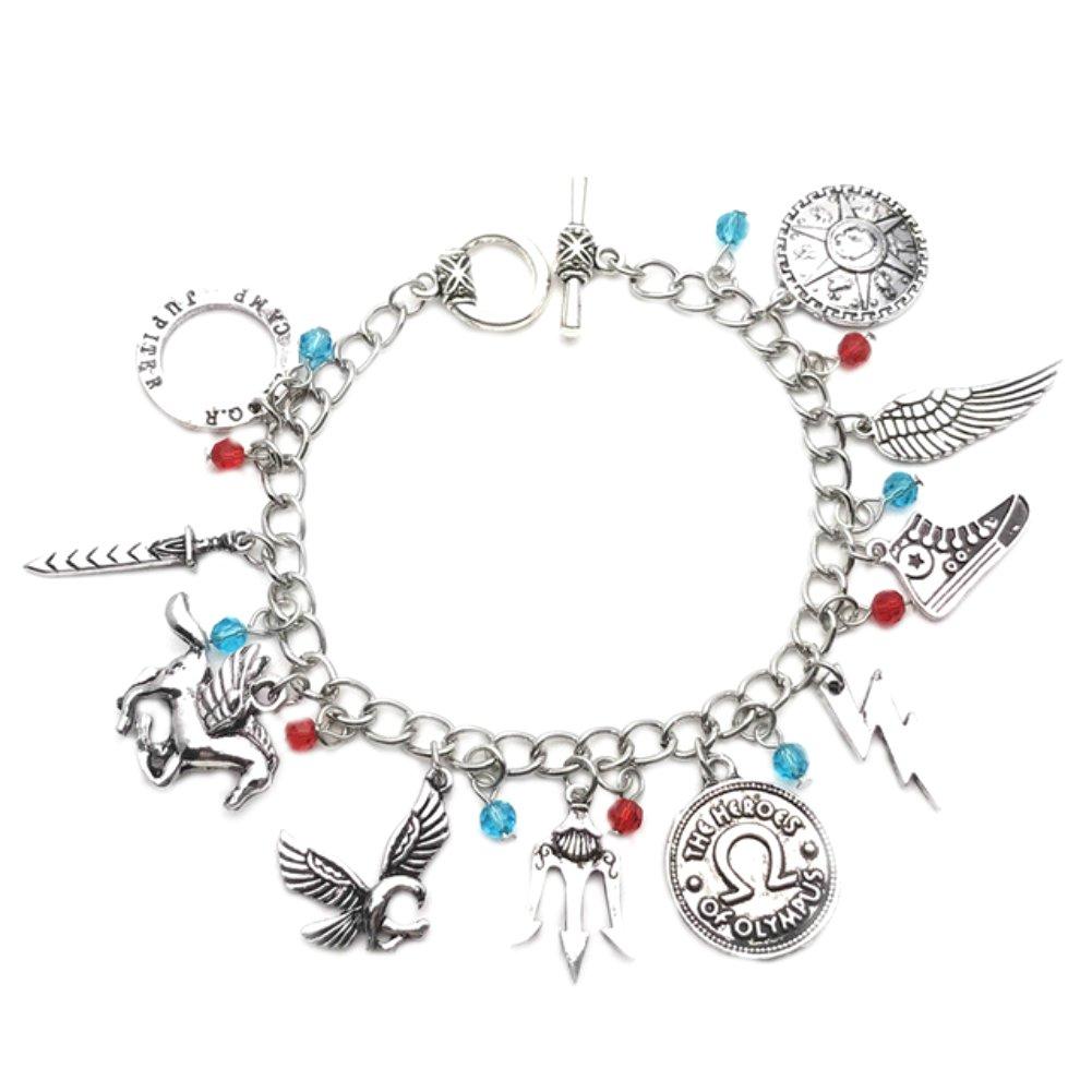 Athena Brand Percy Jackson Charm Bracelet Movie Book Series Premium Jewelry Multi Charms Movie Collection