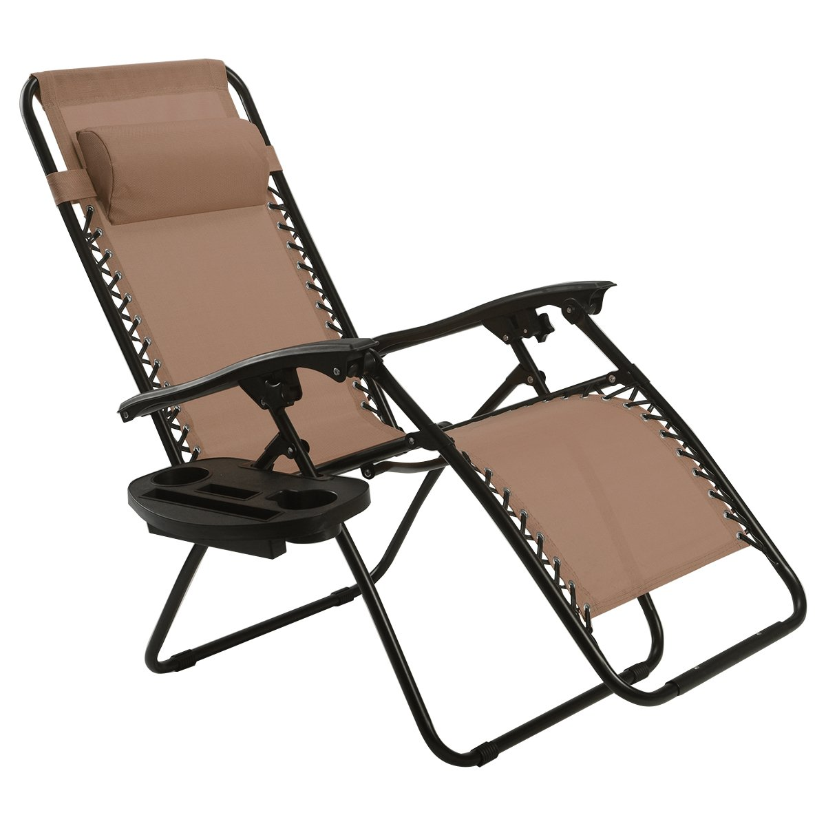 Amazon.com : Goplus Folding Zero Gravity Reclining Lounge Chairs Outdoor  Beach Patio W/Utility Tray (Brown) : Garden & Outdoor - Amazon.com : Goplus Folding Zero Gravity Reclining Lounge Chairs