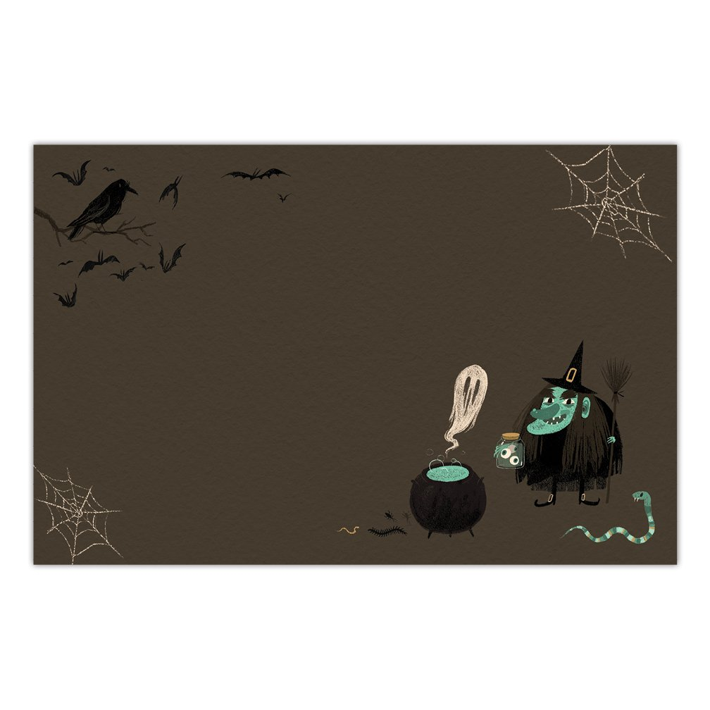 DB Party Studio Halloween Paper Place Mats 25 Pack Witches Brew Disposable Indoor Outdoor Easy Cleanup Placemat Table Settings Home School Children Adult Costume Parties 17 x 11 Dining Placemats