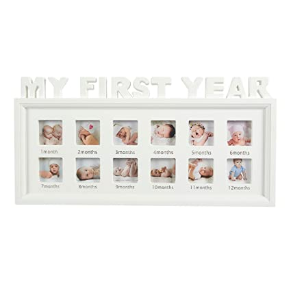 Amazon.com: Juvale My First Year Baby Picture Frame - 12 Month Photo ...