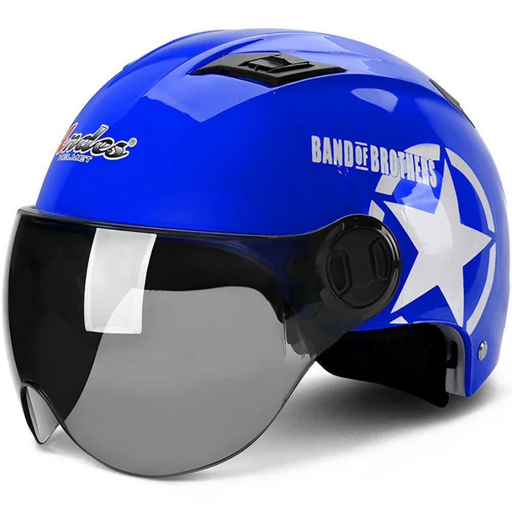 Yellow 56-62cm LALEO Universal Size Open Face Motorcycle Helmet Flip Up Sunshield Summer Breathable Adults Men /& Women Half Helmet Orange Blue